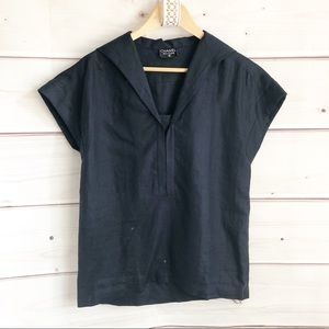 Chanel linen sailor blouse
